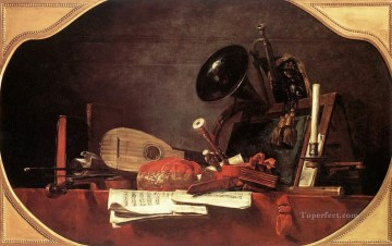 Still life Painting - Attributes of Music Jean Baptiste Simeon Chardin still life